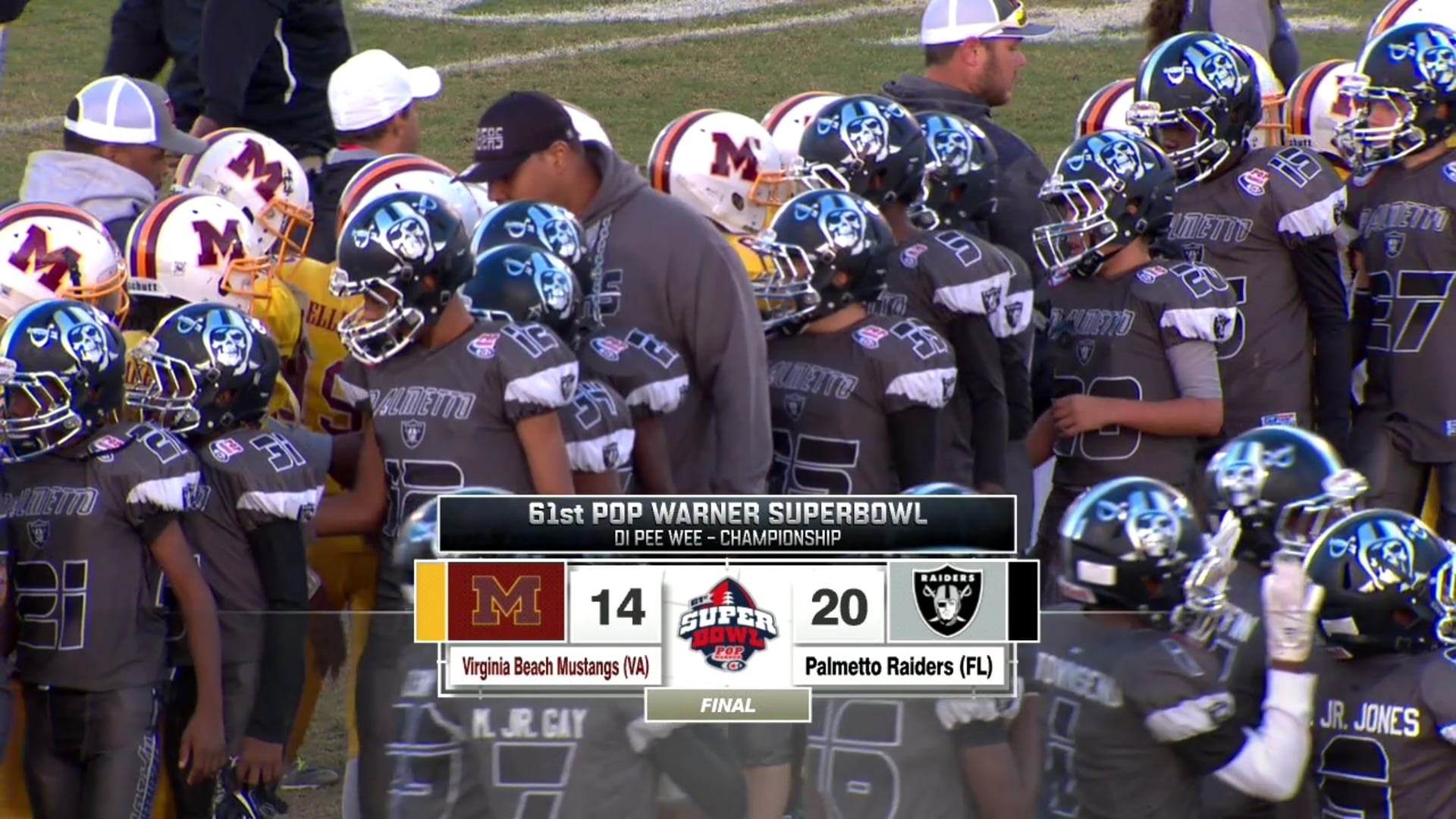 Pop Warner Super Bowl: Palmetto Raiders Championship with Pop Warner Super Bowl
