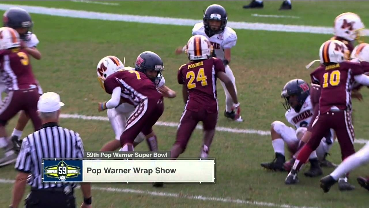Pop Warner Super Bowl Postgame - Wednesday, December 9 throughout Pop Warner Super Bowl