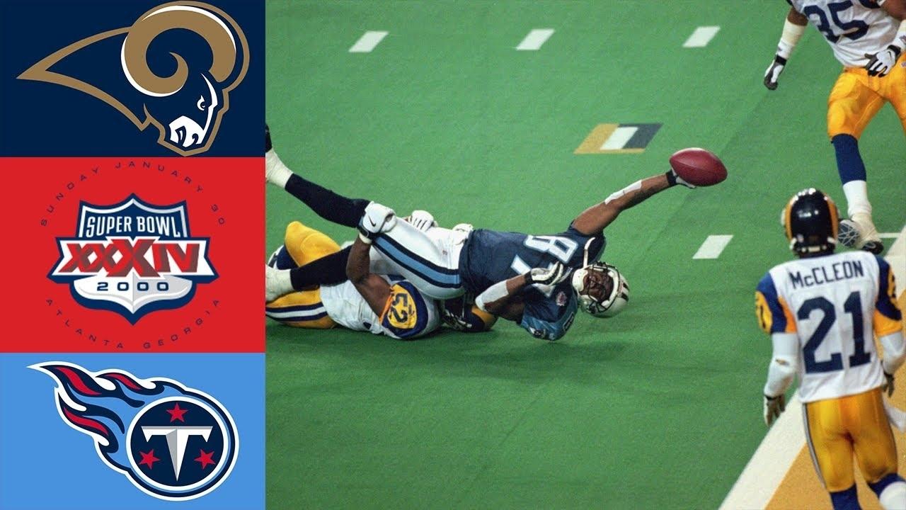 Rams Vs Titans Super Bowl Xxxiv pertaining to Rams Titans Super Bowl