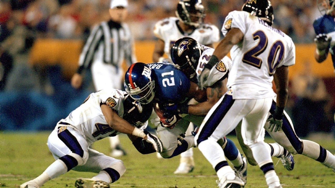 Ravens' 2000 Super Bowl Anniversary Marks Time When Defenses for Ravens Giants Super Bowl