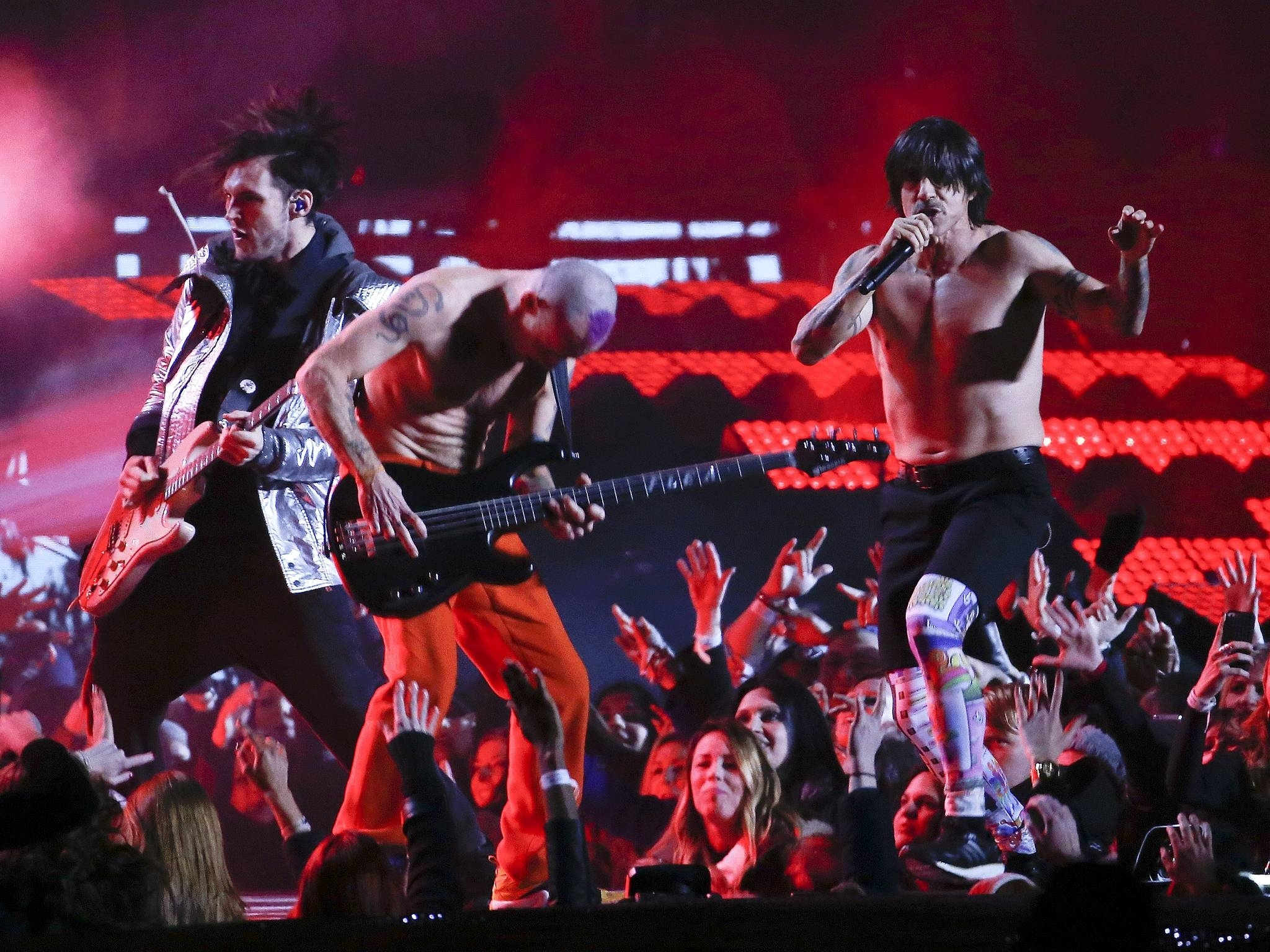 Red Hot Chili Peppers Bassist Flee On Playing Super Bowl for Red Hot Chili Peppers Super Bowl