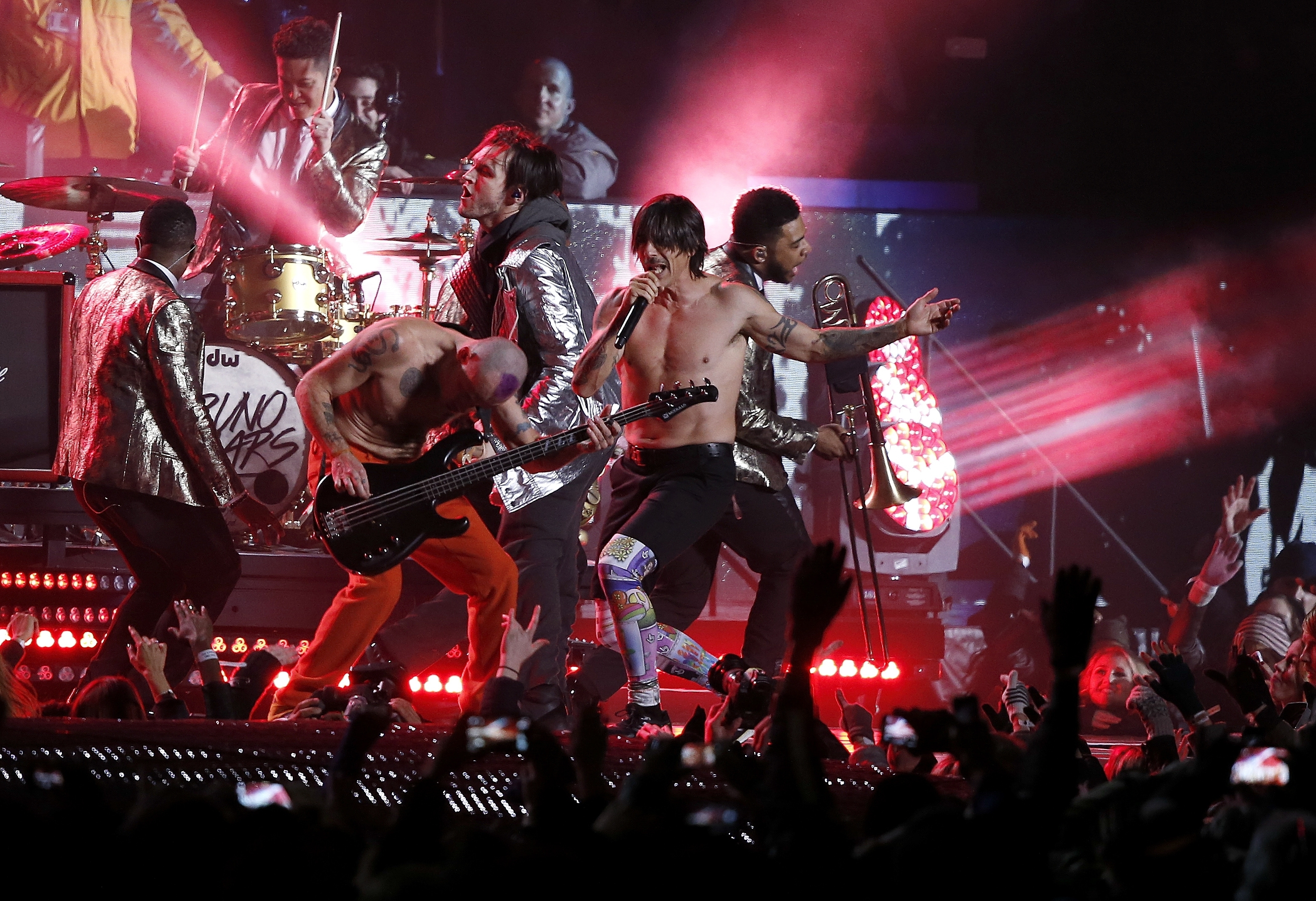 Red Hot Chili Peppers Didn't Play Instruments Live At Super pertaining to Red Hot Chili Peppers Super Bowl