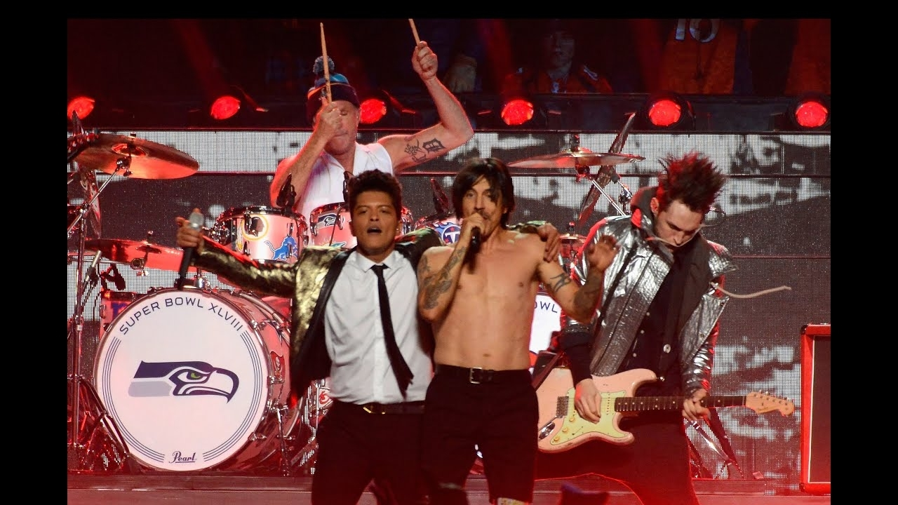 Red Hot Chili Peppers - Give It Away (Superbowl Xviii Halftime Show Bruno  Mars) with regard to Red Hot Chili Peppers Super Bowl