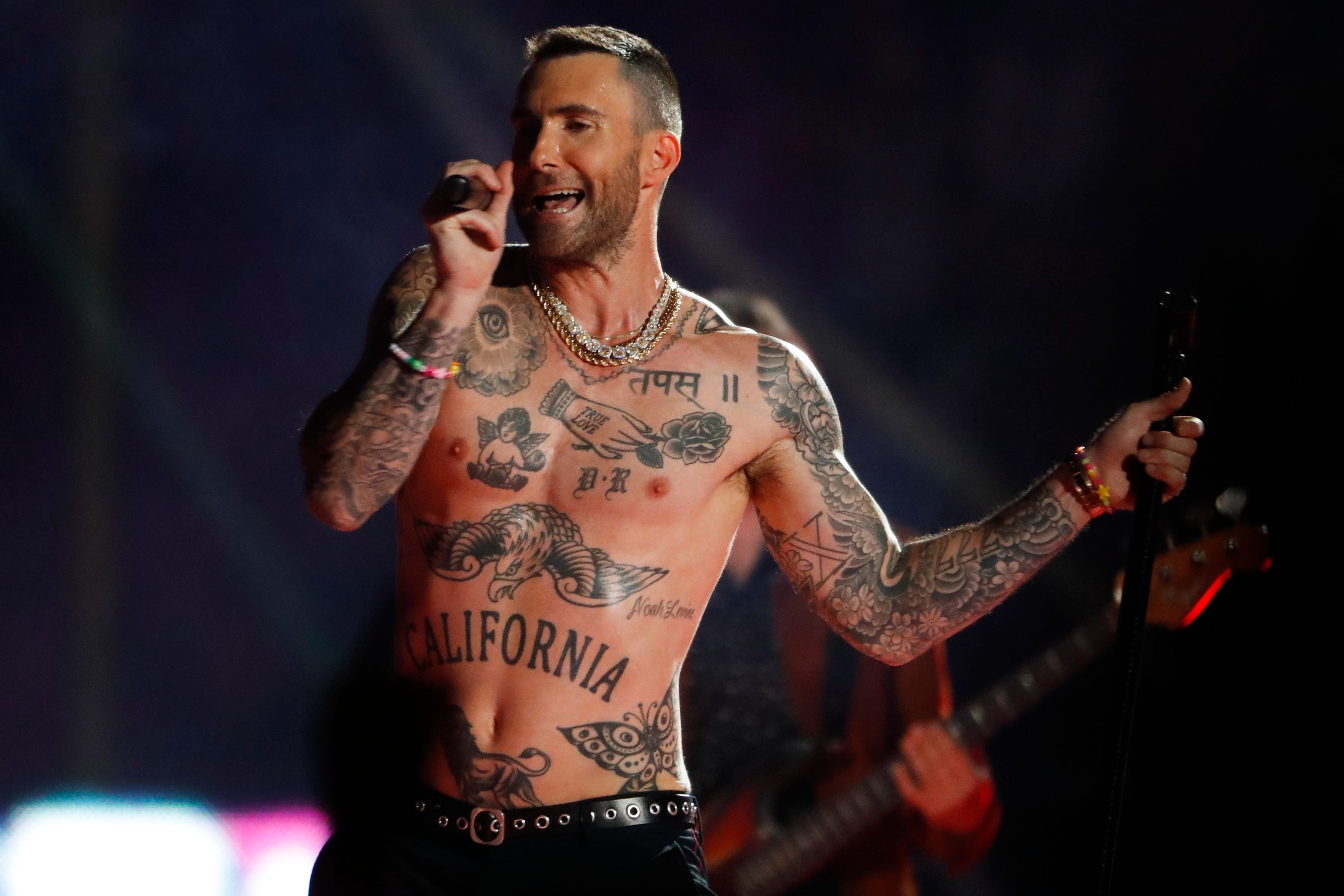 Review: Adam Levine Delivers A Flavorless Halftime Show inside Adam Levine Super Bowl 2019