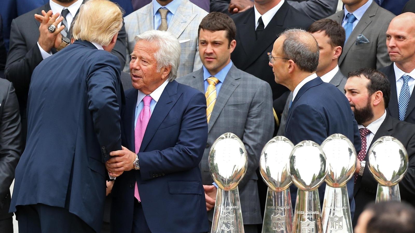 Robert Kraft Gifted Donald Trump A Super Bowl Li Ring For intended for Trump Super Bowl Kraft