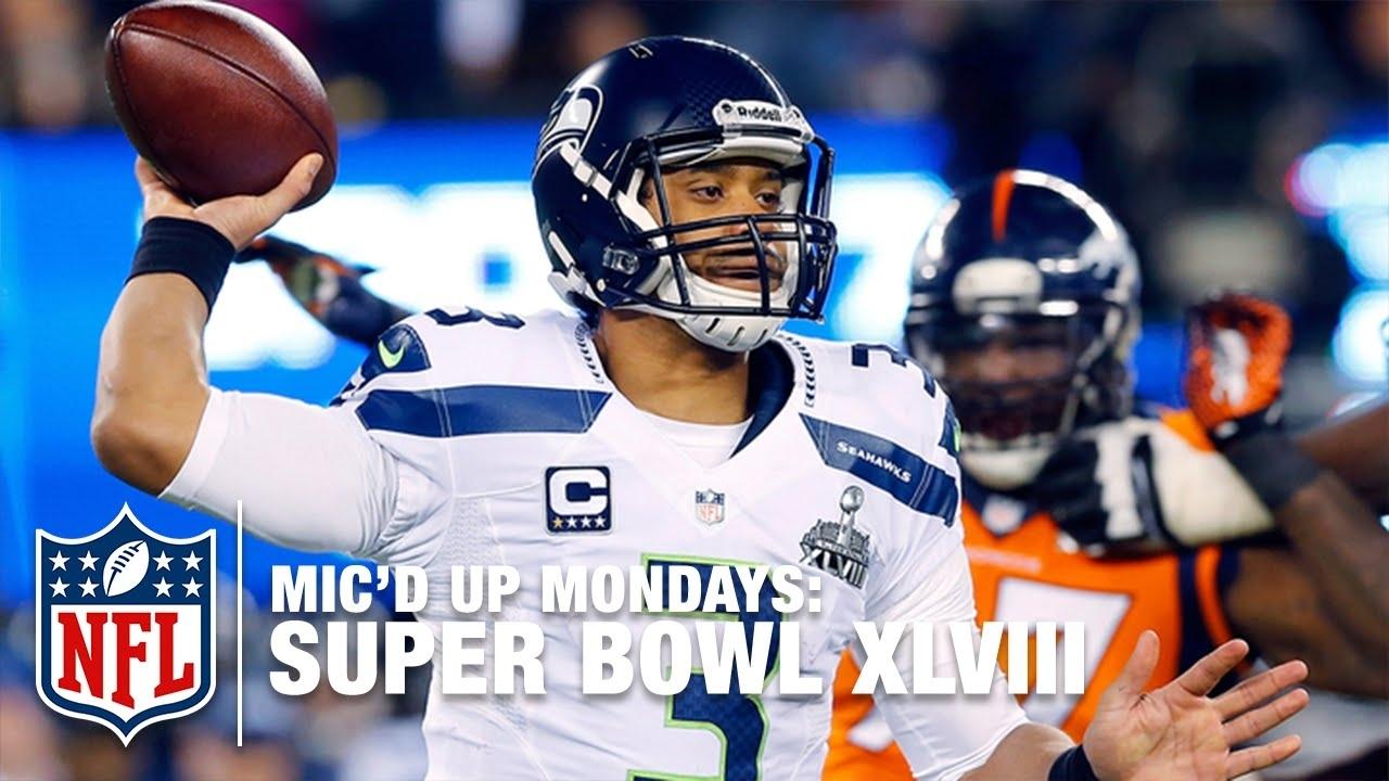 Russell Wilson's Mic'd Up Super Bowl Xlviii | #micdupmondays | Nfl within Russell Wilson Super Bowl