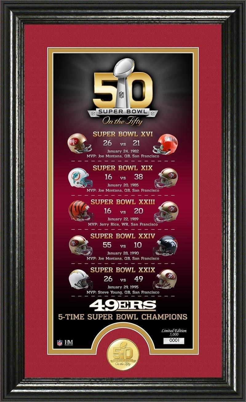 San Francisco 49Ers Super Bowl 50Th Anniversary Bronze Coin for 49Ers Last Super Bowl