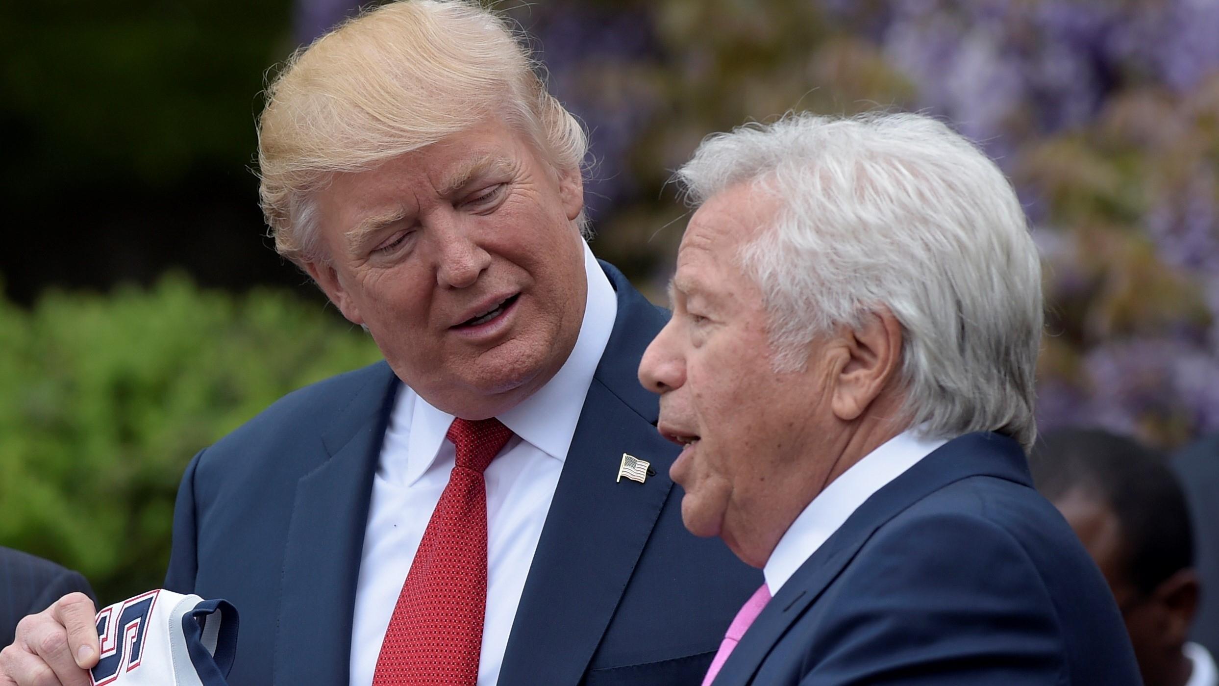 Scaramucci Says Kraft Gave Super Bowl Li Ring To Trump pertaining to Trump Super Bowl Kraft