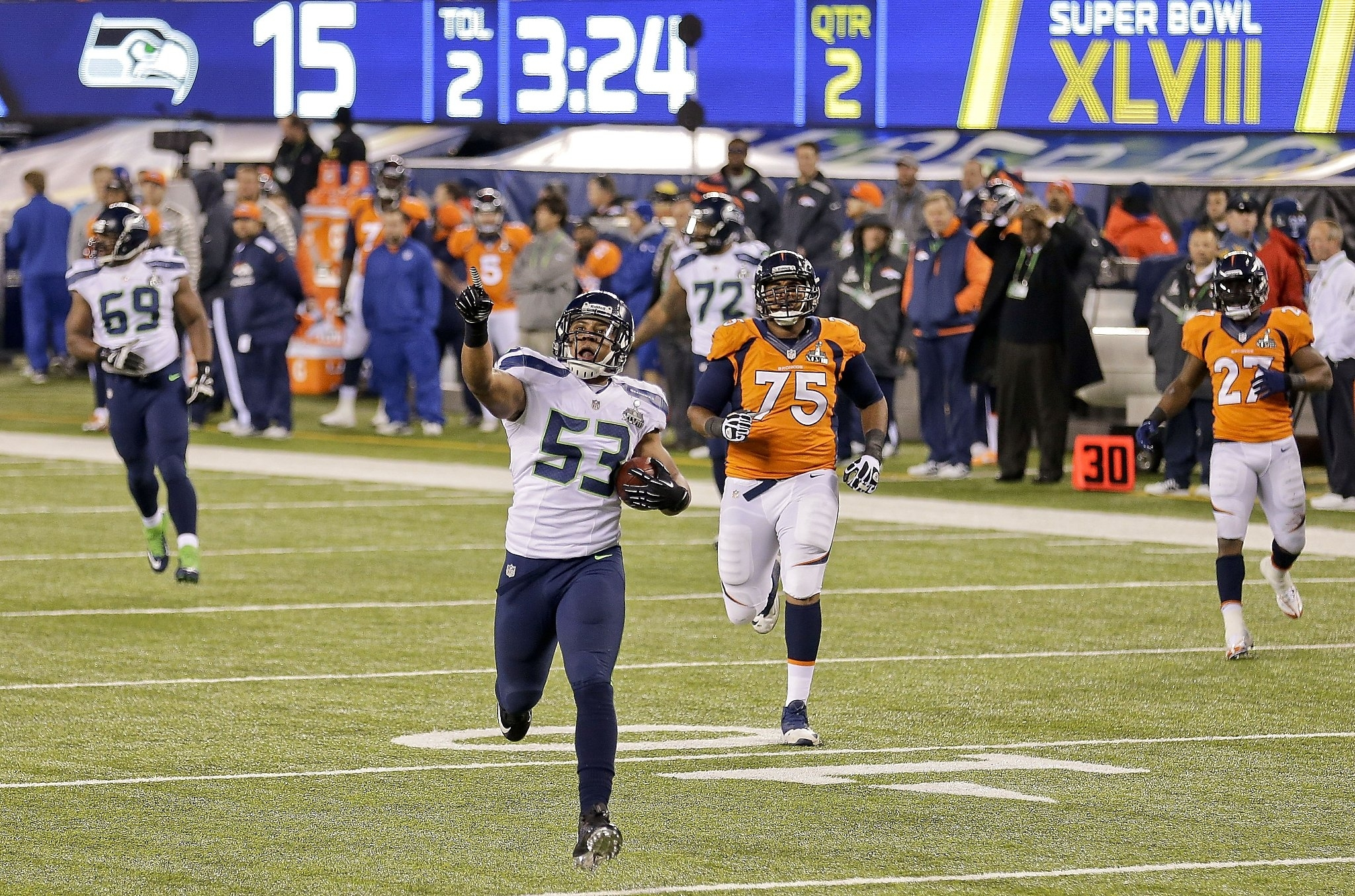 Seahawks Beat Broncos 43-8 To Win 1St Super Bowl Title - Sfgate inside Seahawks Broncos Super Bowl