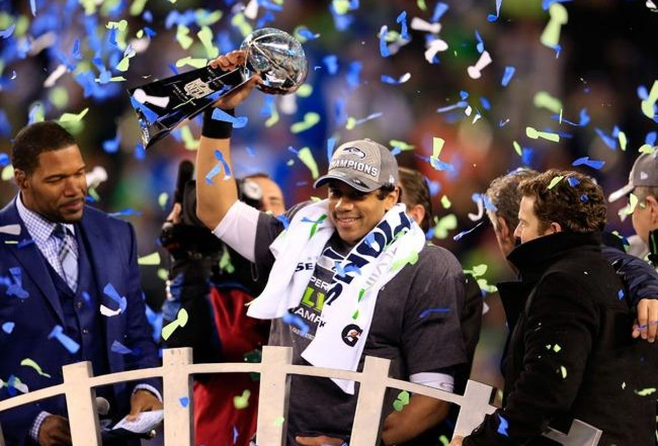 Seahawks Qb Russell Wilson Is A Super Bowl Champion And A regarding Russell Wilson Super Bowl