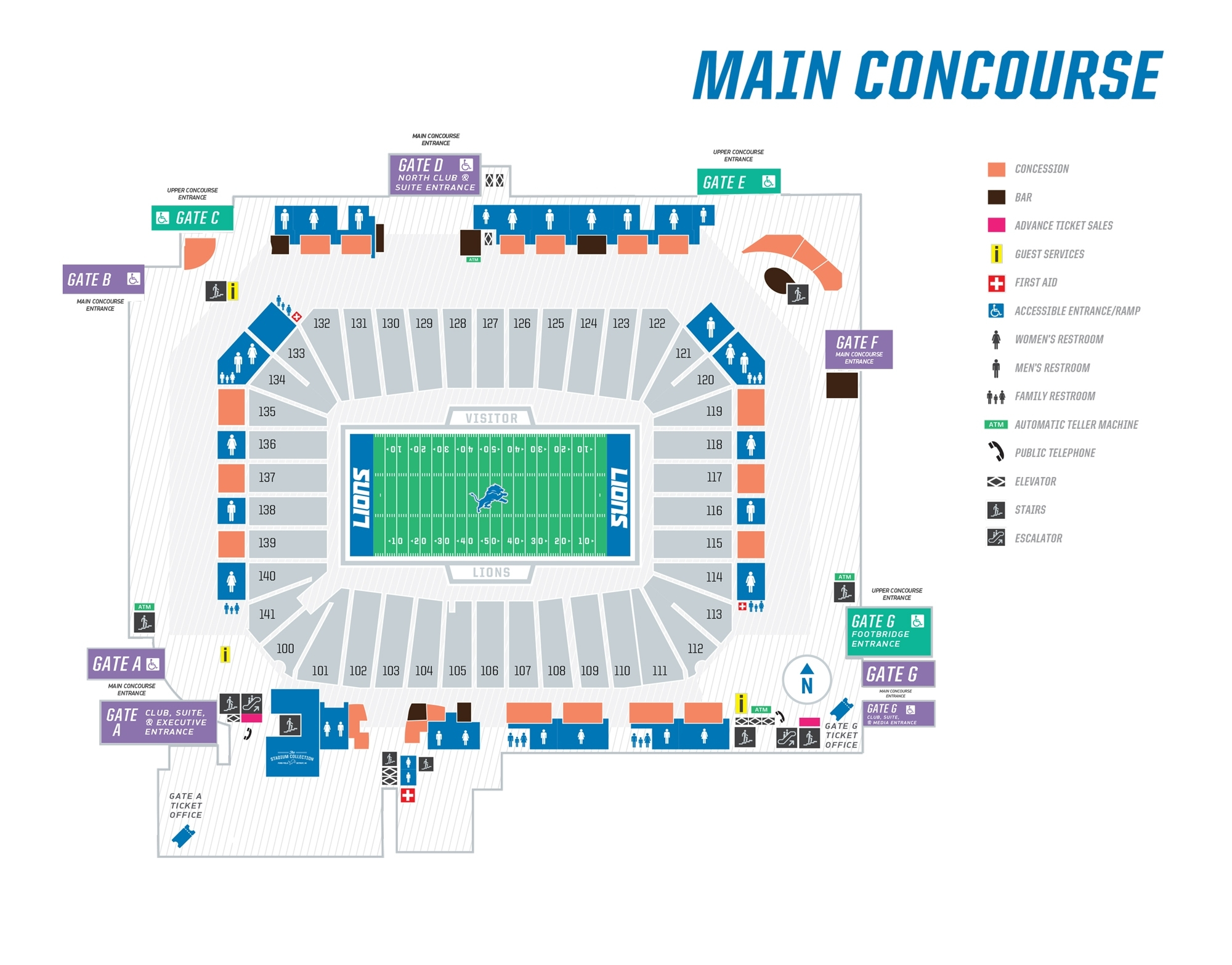 Seating Maps | Ford Field for Super Bowl Seat Map
