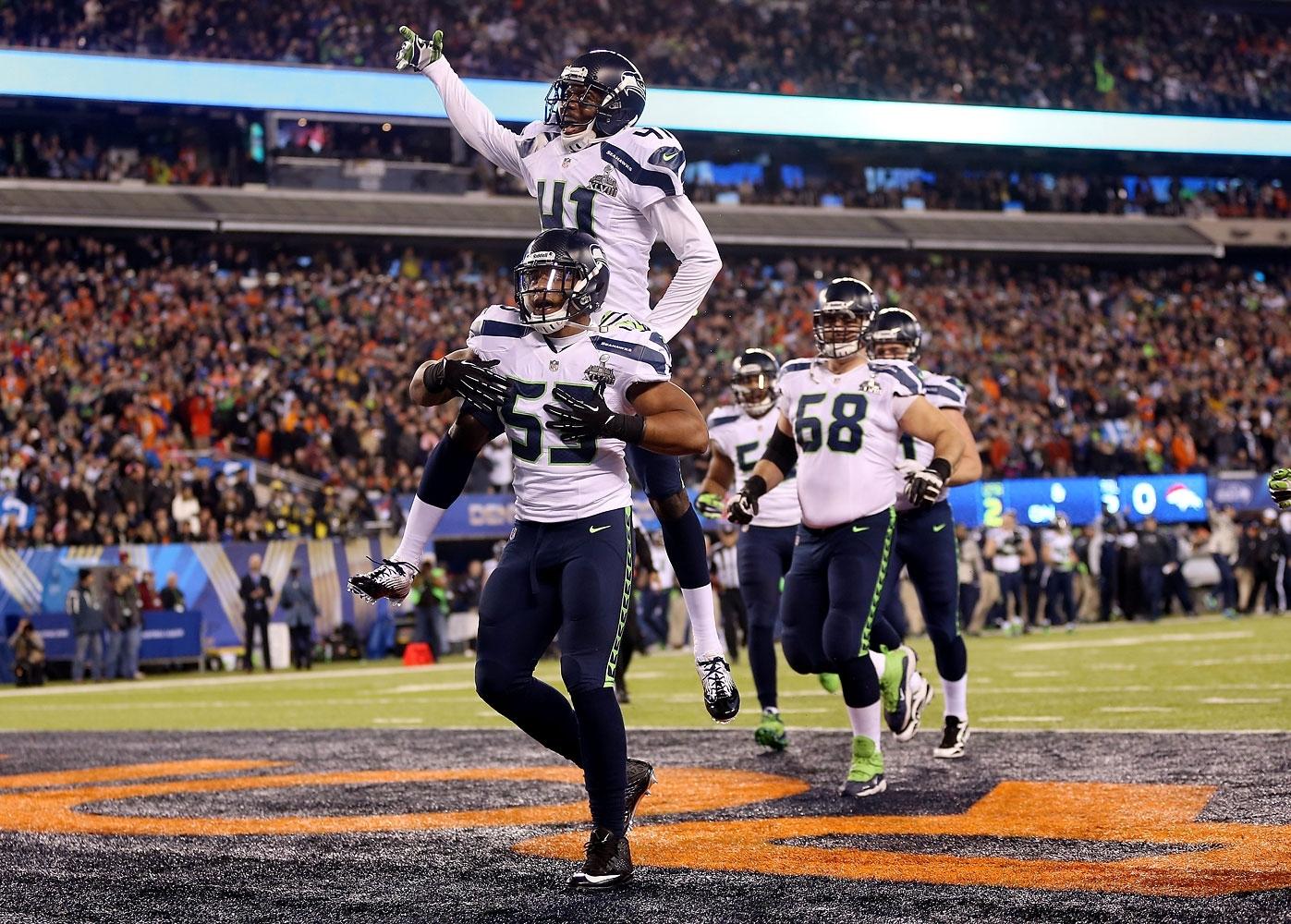 Seattle Seahawks Beat Denver Broncos, 43-8, To Win Super throughout Seahawks Broncos Super Bowl
