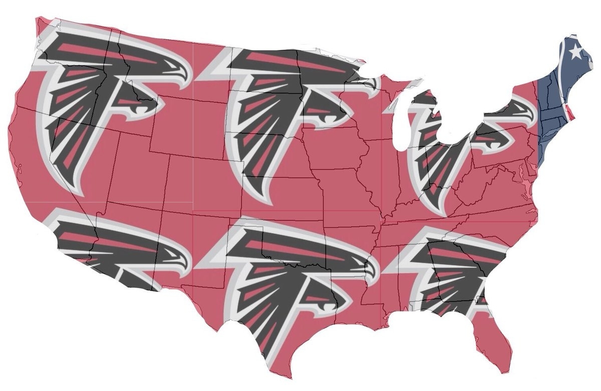 "Sports Nation Ohio On Twitter: ""map Of Who America Is pertaining to Map Of Who Is Rooting For Super Bowl"
