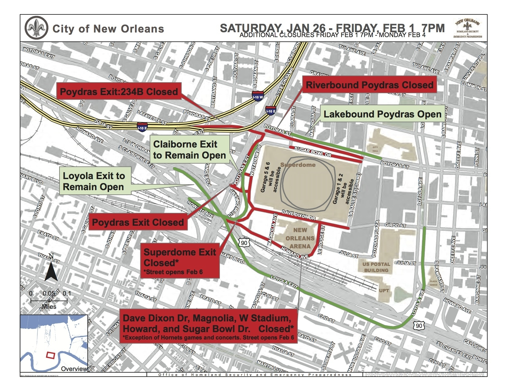 Street Closures Scheduled For Upcoming Super Bowl | New within Super Bowl Traffic Map