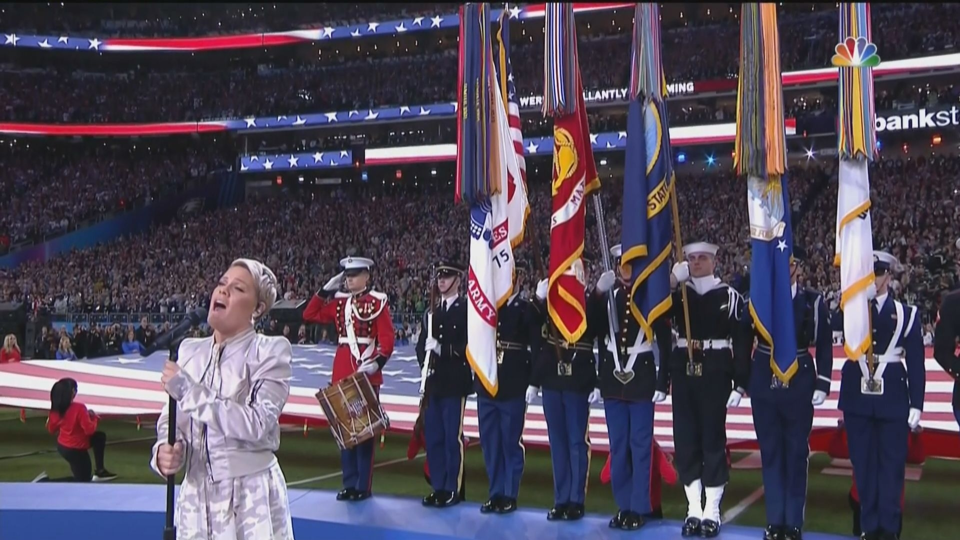 Super Bowl 2018 National Anthem Video: Watch Pink Sing 'the within Super Bowl Star Spangled Banner 2019