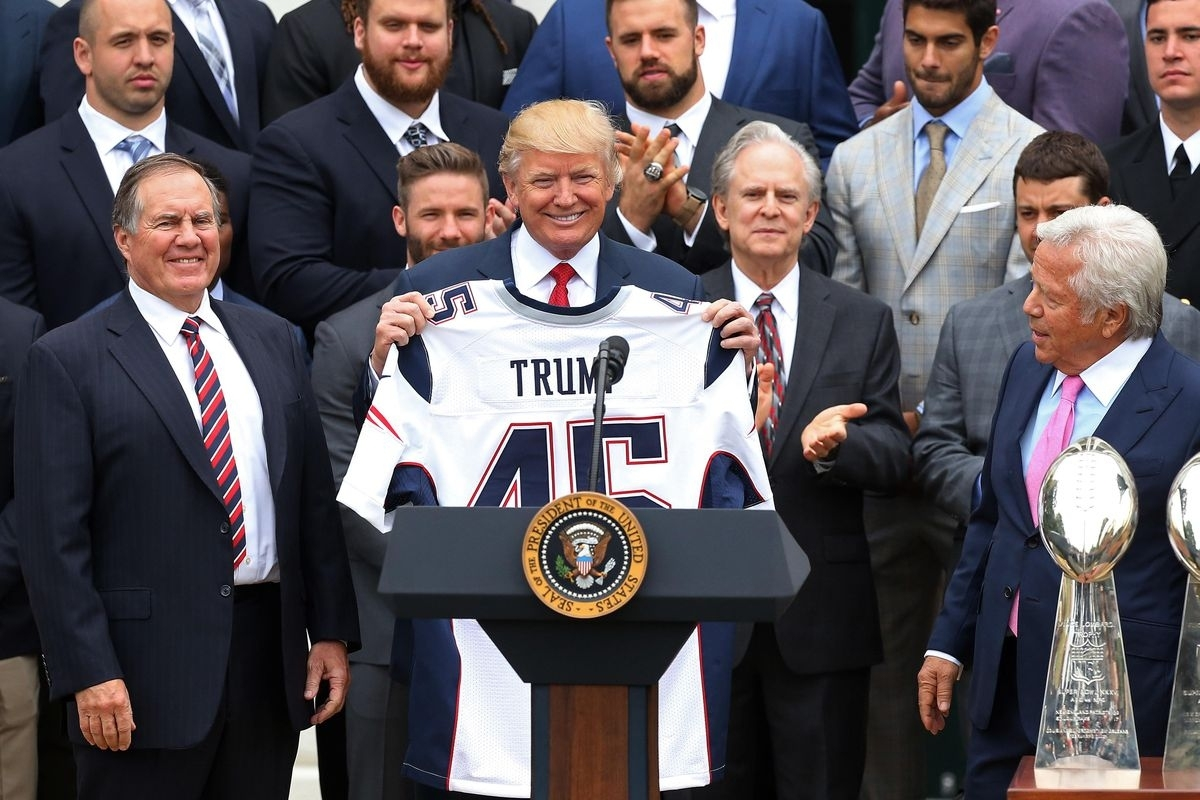 Super Bowl 2018: What's The Connection Between The Patriots pertaining to Trump Super Bowl Kraft