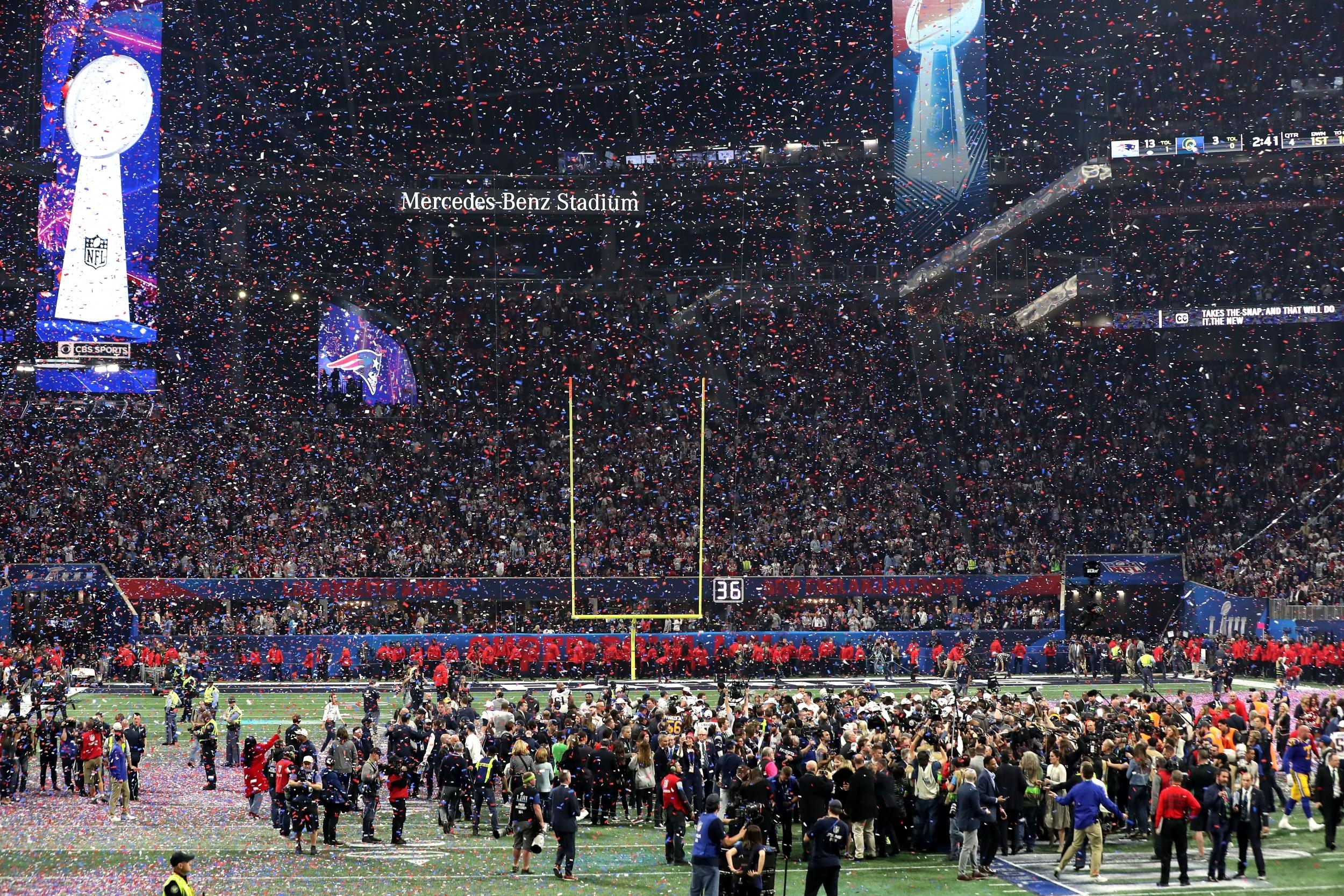 Super Bowl 2019 Attendance: La Rams Vs New England Patriots pertaining to Super Bowl 2019 Stadium Seating Capacity