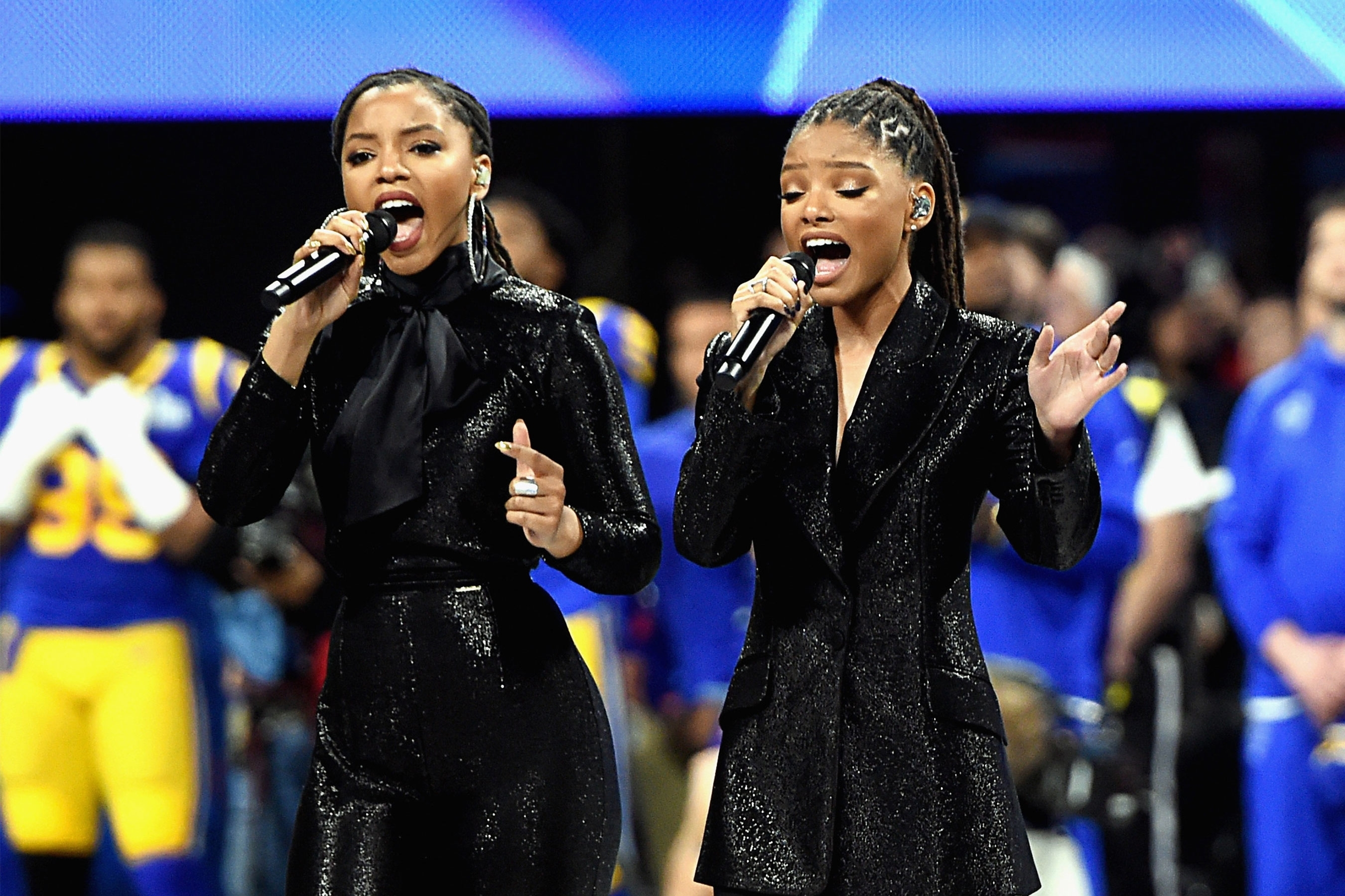 Super Bowl 2019: Chloe X Halle Sing 'america, The Beautiful intended for America The Beautiful Super Bowl 2019