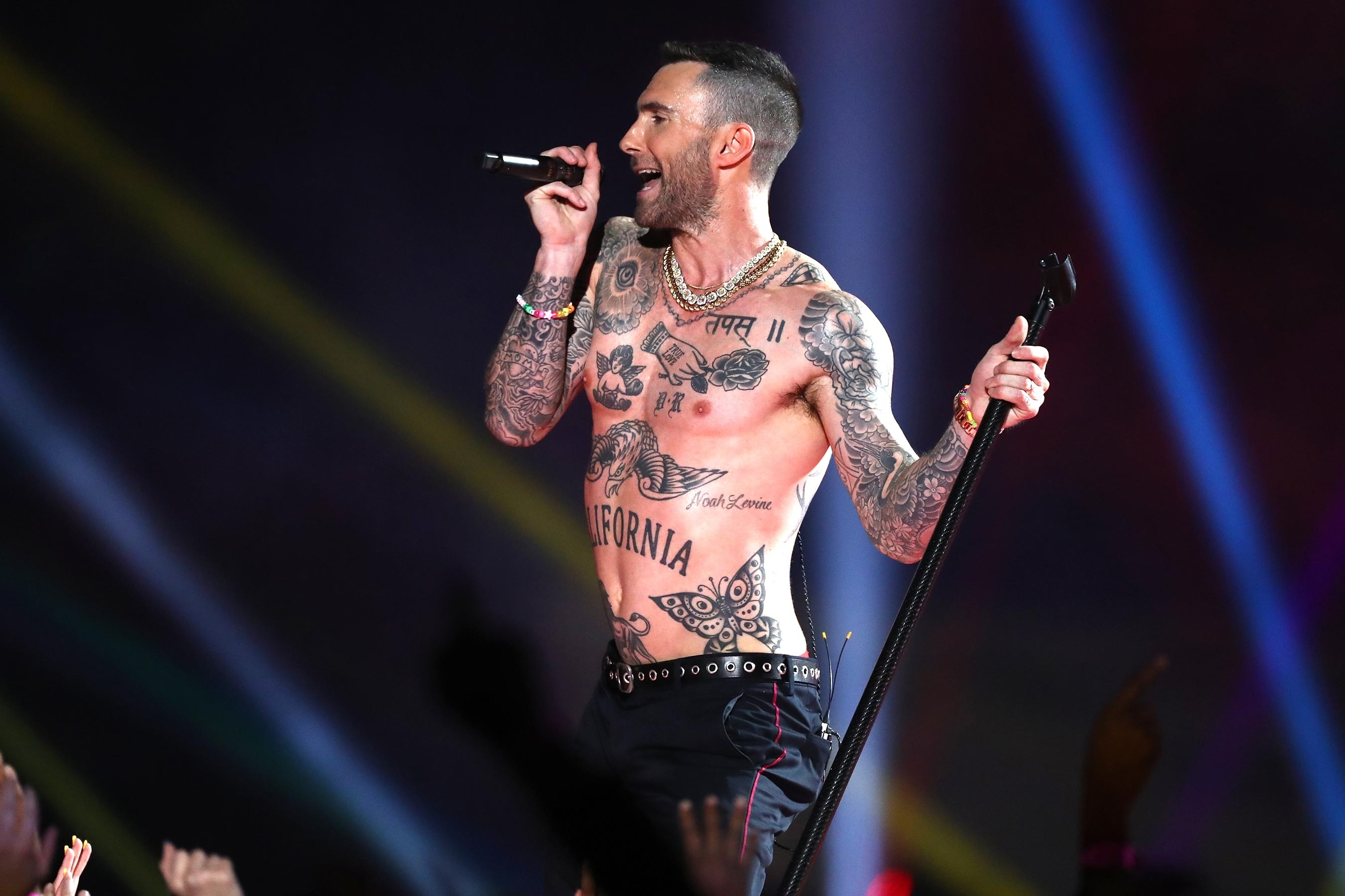 Super Bowl 2019: Maroon 5 Performs During Halftime Show With within Maroon Five Super Bowl 2019
