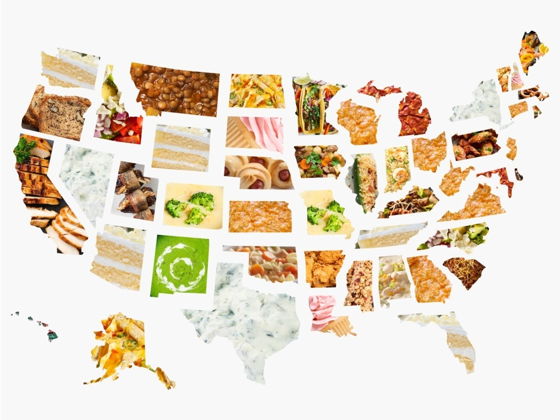 Super Bowl 2019: Most Popular Recipes In Every State regarding Google Super Bowl Food Map