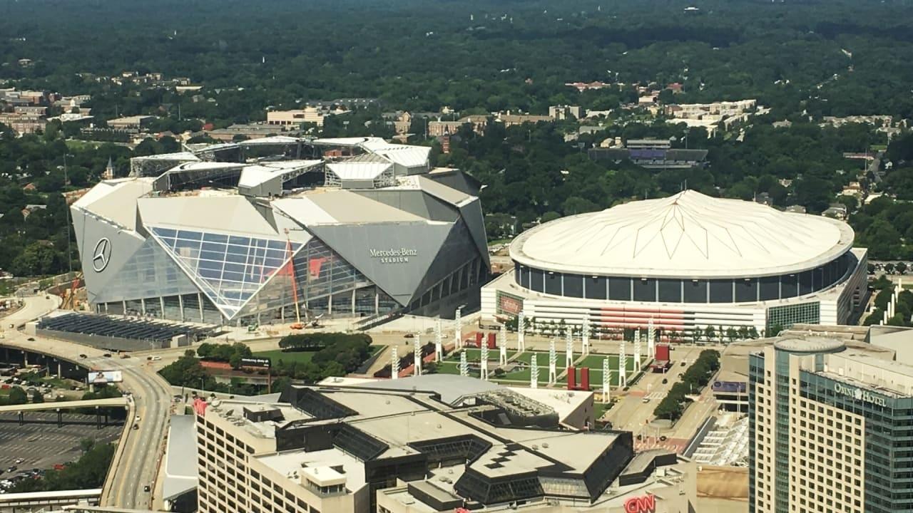 Super Bowl 2019: Time-Lapse Map Shows Atlanta's Mercedes with regard to Mercedes Benz Stadium Super Bowl Map