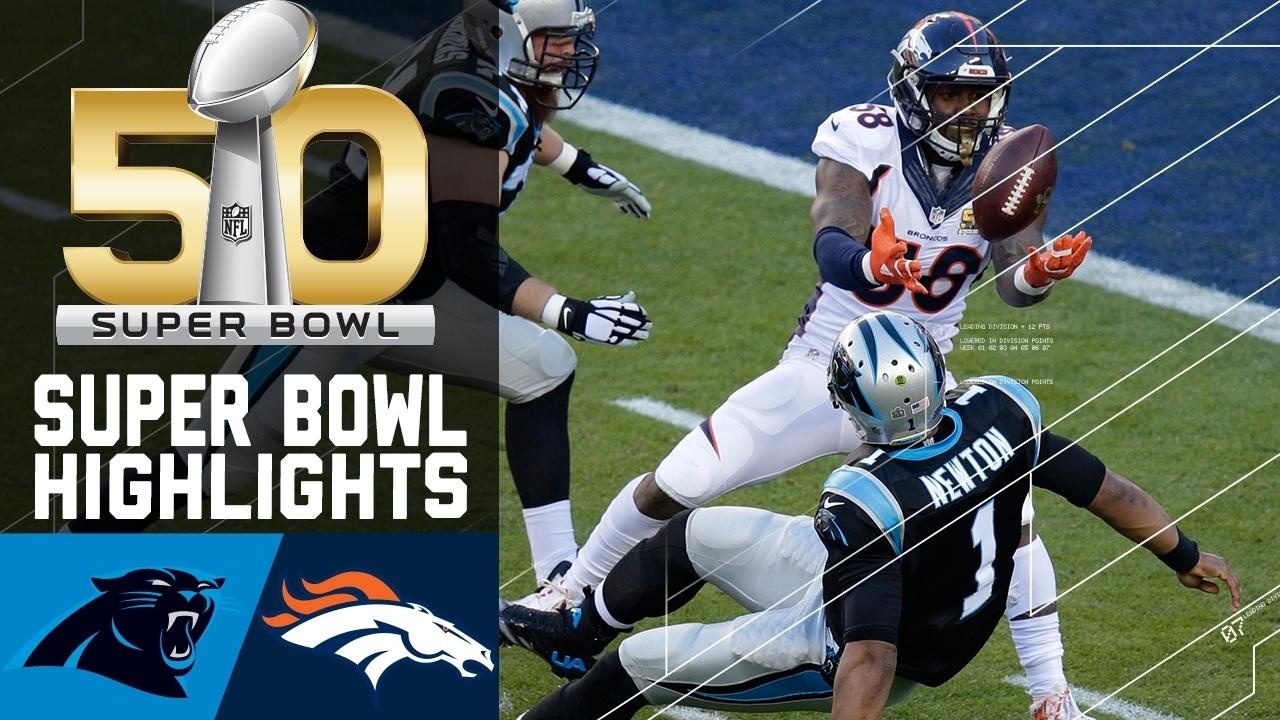 Super Bowl 50 Highlights   Panthers Vs. Broncos   Nfl pertaining to Panthers Broncos Super Bowl