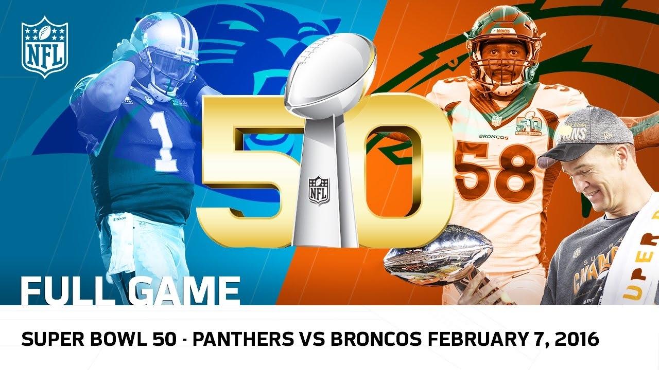 Super Bowl 50 - Panthers Vs. Broncos   Nfl Full Game intended for Broncos Panthers Super Bowl