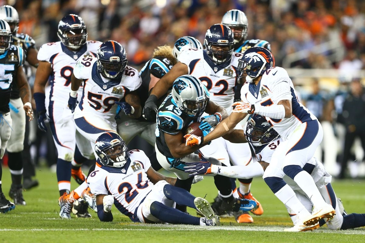 Super Bowl 50 Rematch Between Broncos, Panthers Could Open with Broncos Panthers Super Bowl