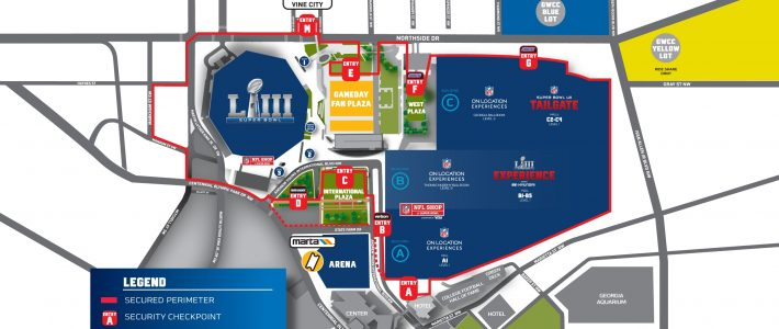 Super Bowl Game Details   Nfl   Nfl with Super Bowl Game Day Map