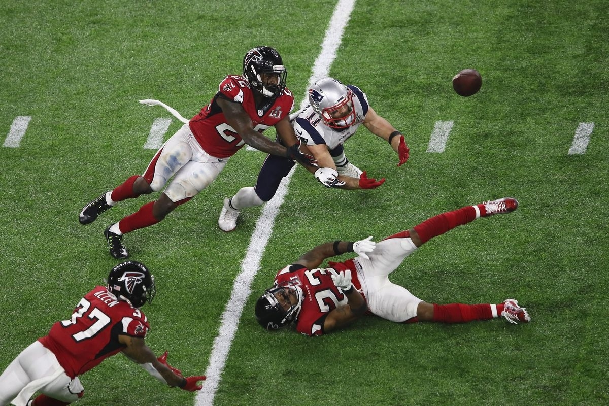 Super Bowl History: Patriots Come Back From 28-3 Against The pertaining to Falcons Patriots Super Bowl