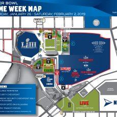 Super Bowl Hub - Mercedes Benz Stadium with Atlanta Stadium Super Bowl Map