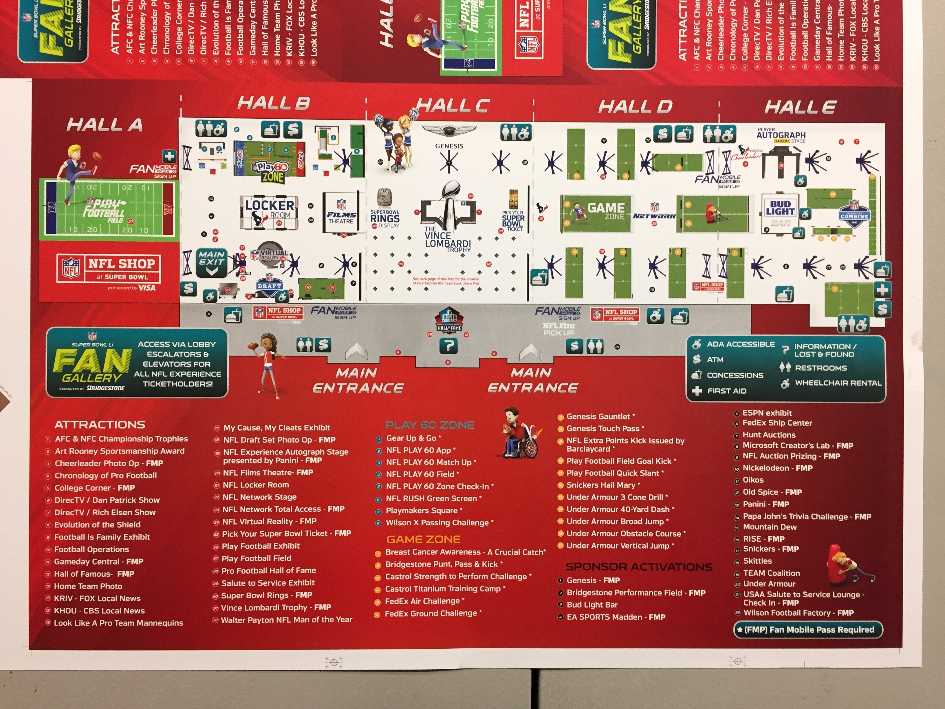 Super Bowl Li Fan Gallery Map Press Sheet. - Album On Imgur intended for Super Bowl Experience Map