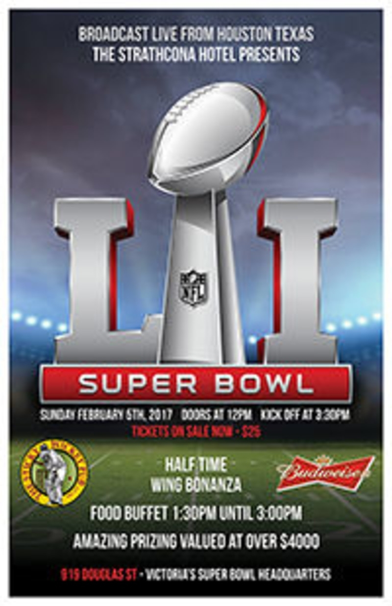 Super Bowl Li In Victoria At The Games Room throughout Super Bowl Tickets For Sale