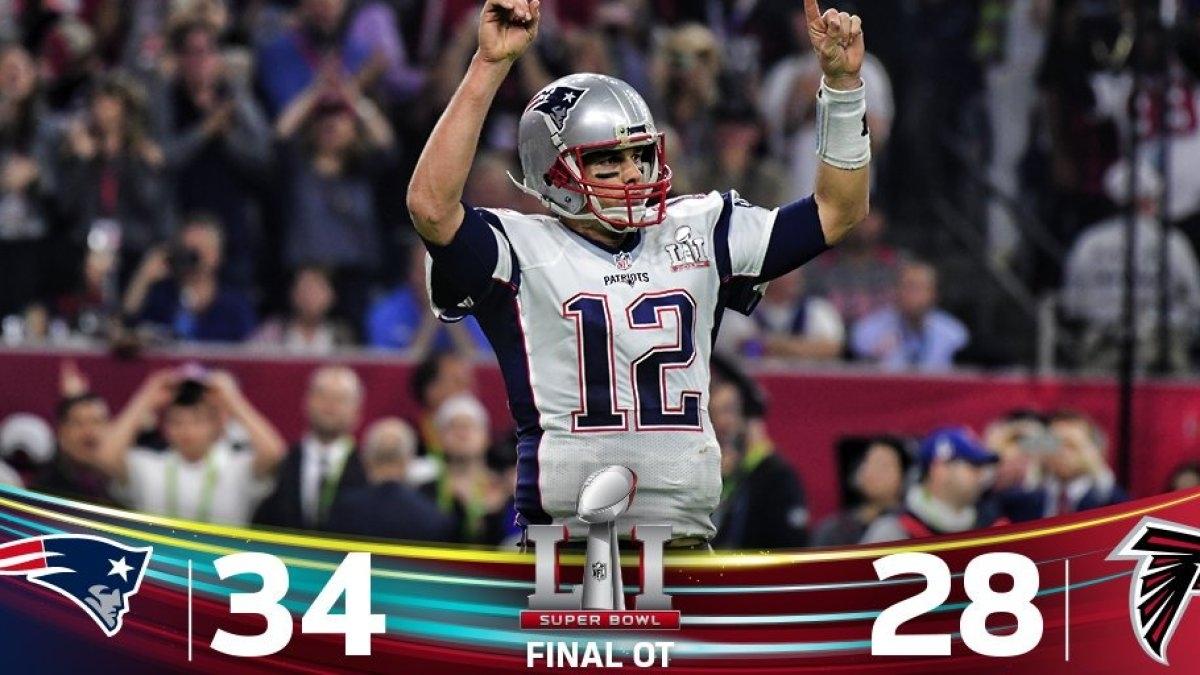 Super Bowl Li: Patriots Win Thriller Over Falcons In intended for Patriots Falcons Super Bowl