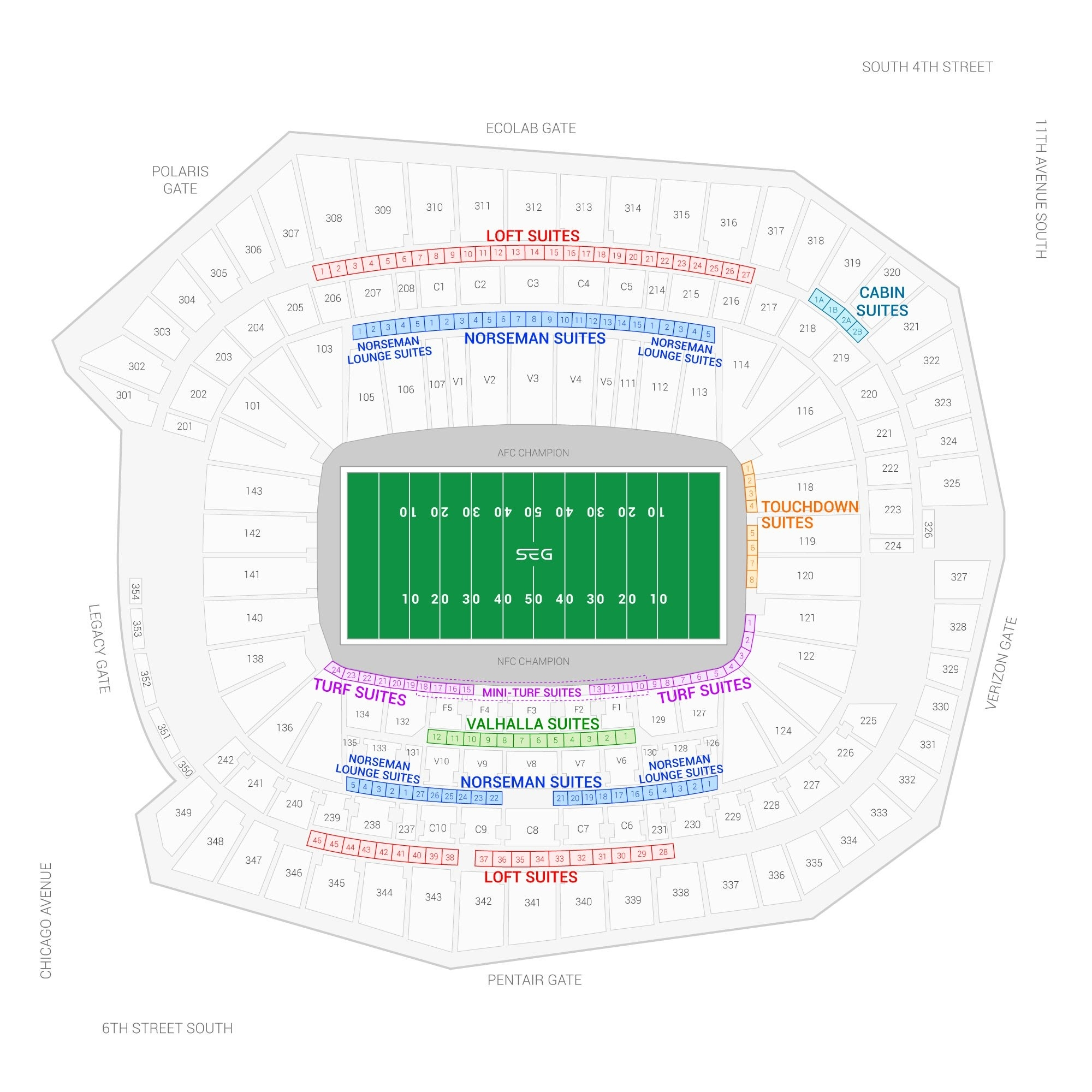Super Bowl Lii Suites For Rent   Suite Experience Group pertaining to Super Bowl 53 Seating Capacity