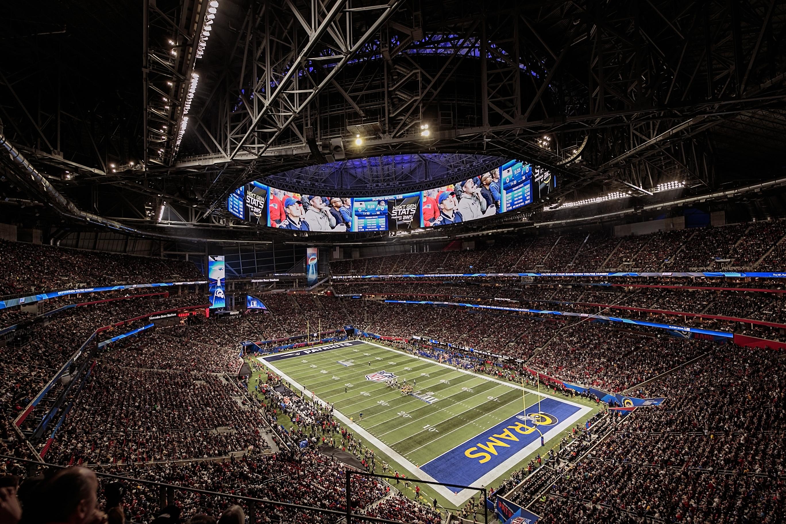Super Bowl Liii - Mercedes Benz Stadium regarding Mercedes Benz Stadium Super Bowl Map