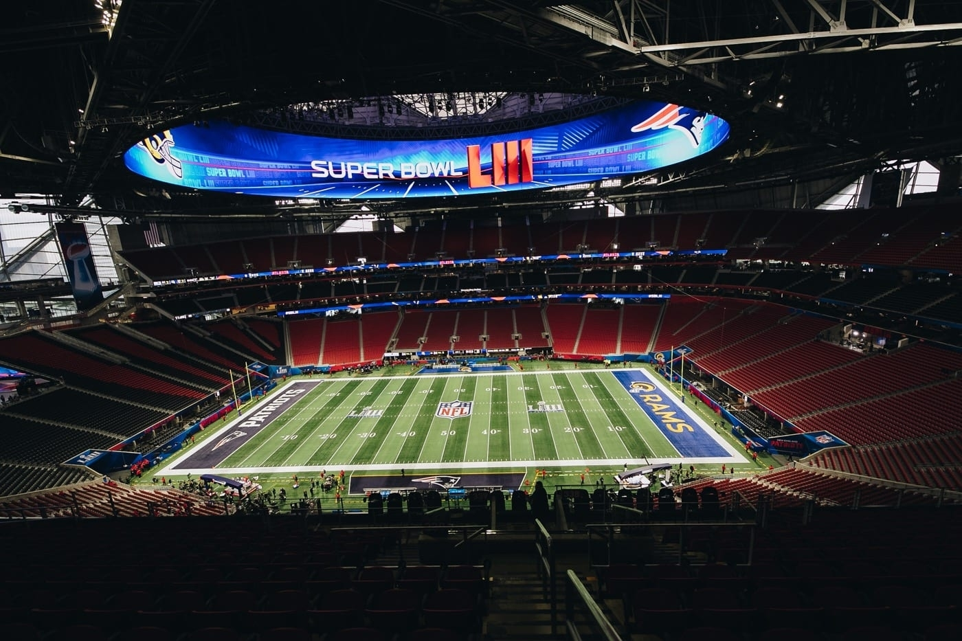 Super Bowl Liii - Mercedes Benz Stadium throughout Super Bowl Liii Seating Chart