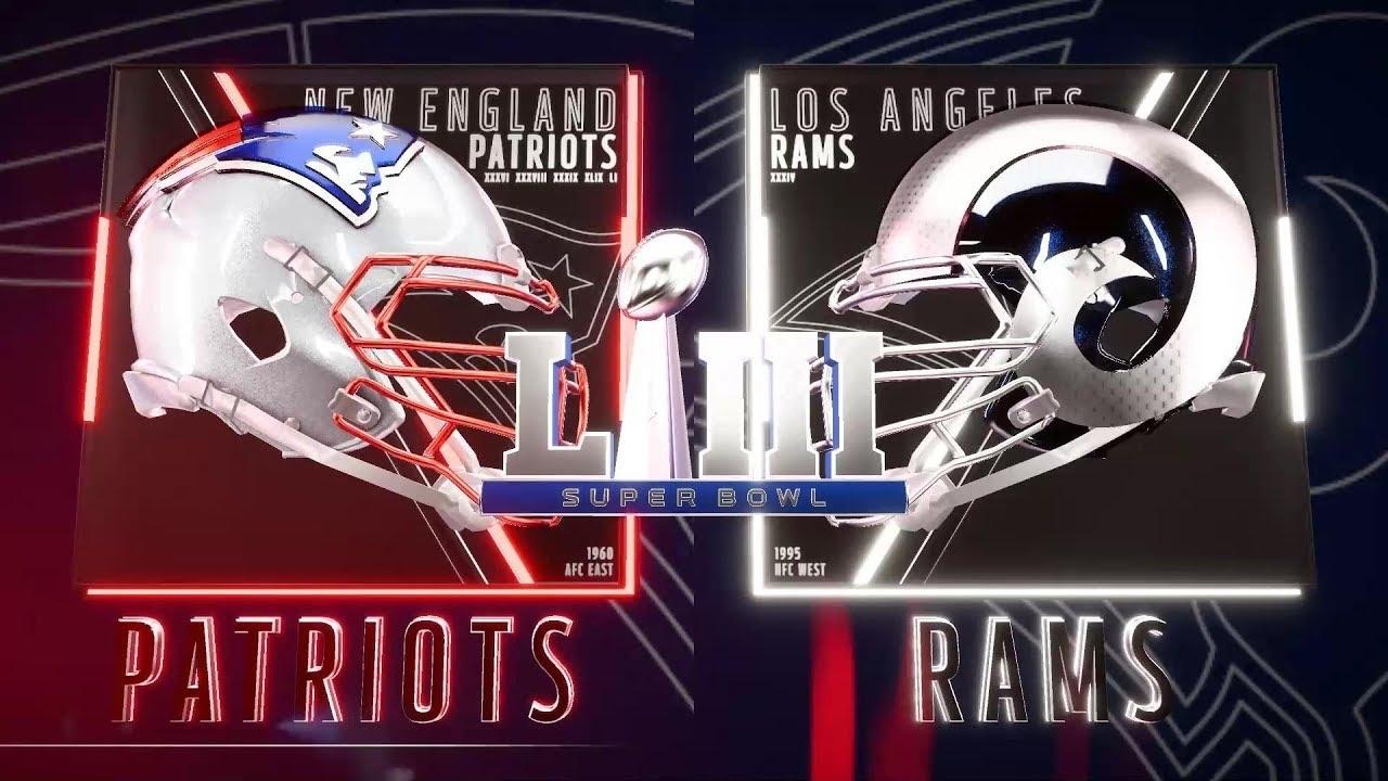 Super Bowl Liii New England Patriots Vs Los Angeles Rams regarding New England Super Bowls