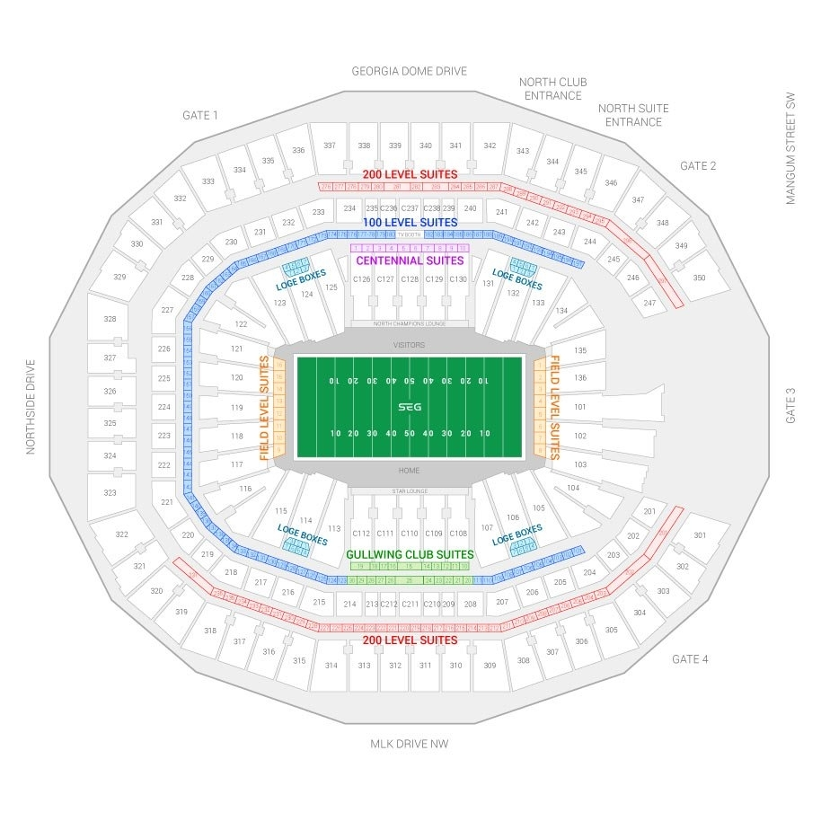 Super Bowl Liii Suite Rentals | Mercedes-Benz Stadium inside Super Bowl Seat Map