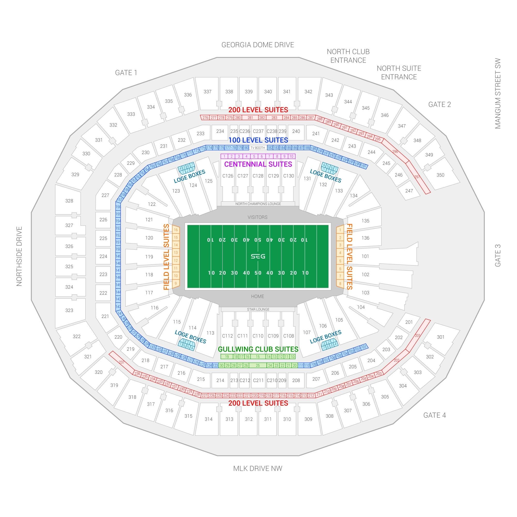 Super Bowl Liii Suite Rentals | Mercedes-Benz Stadium throughout Atlanta Stadium Super Bowl Seating