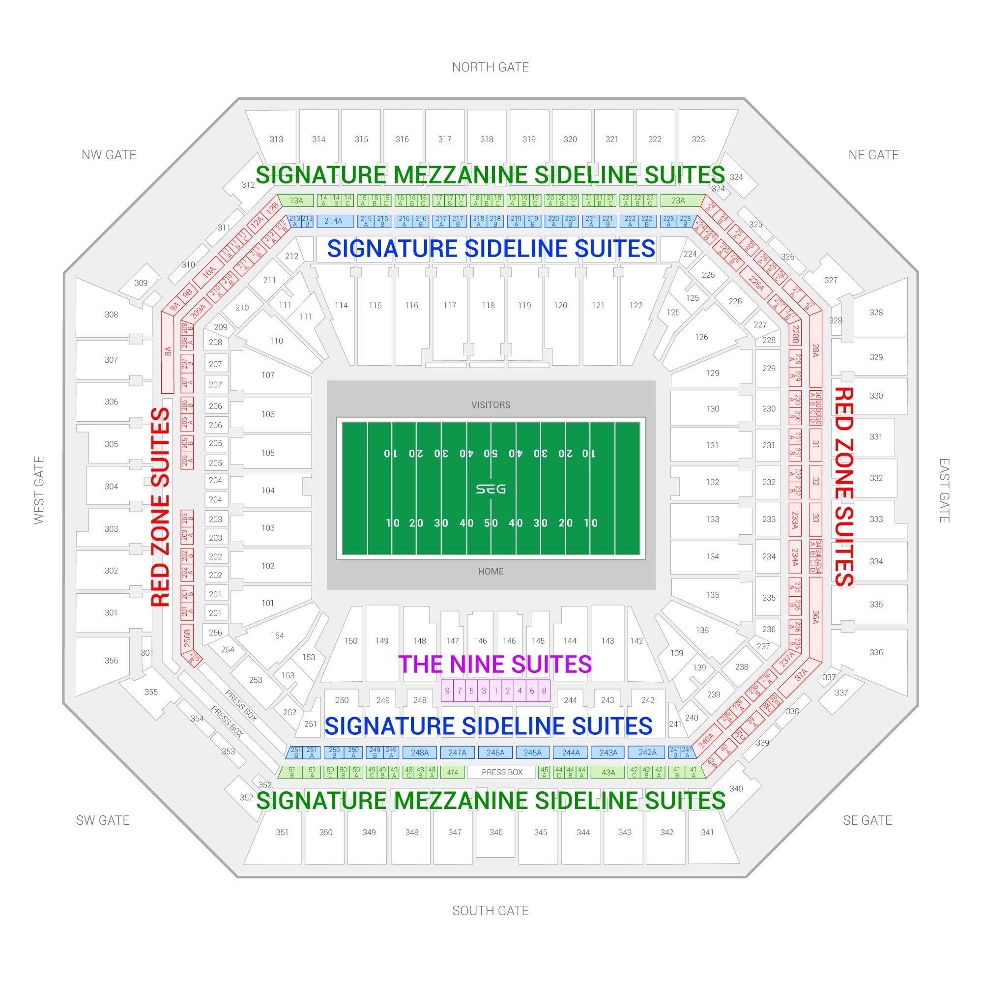Super Bowl Liv Suite Rentals | Hard Rock Stadium throughout Super Bowl Seat Map