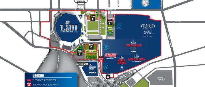 Super Bowl Live   Nfl   Nfl pertaining to Super Bowl Live Atlanta Map