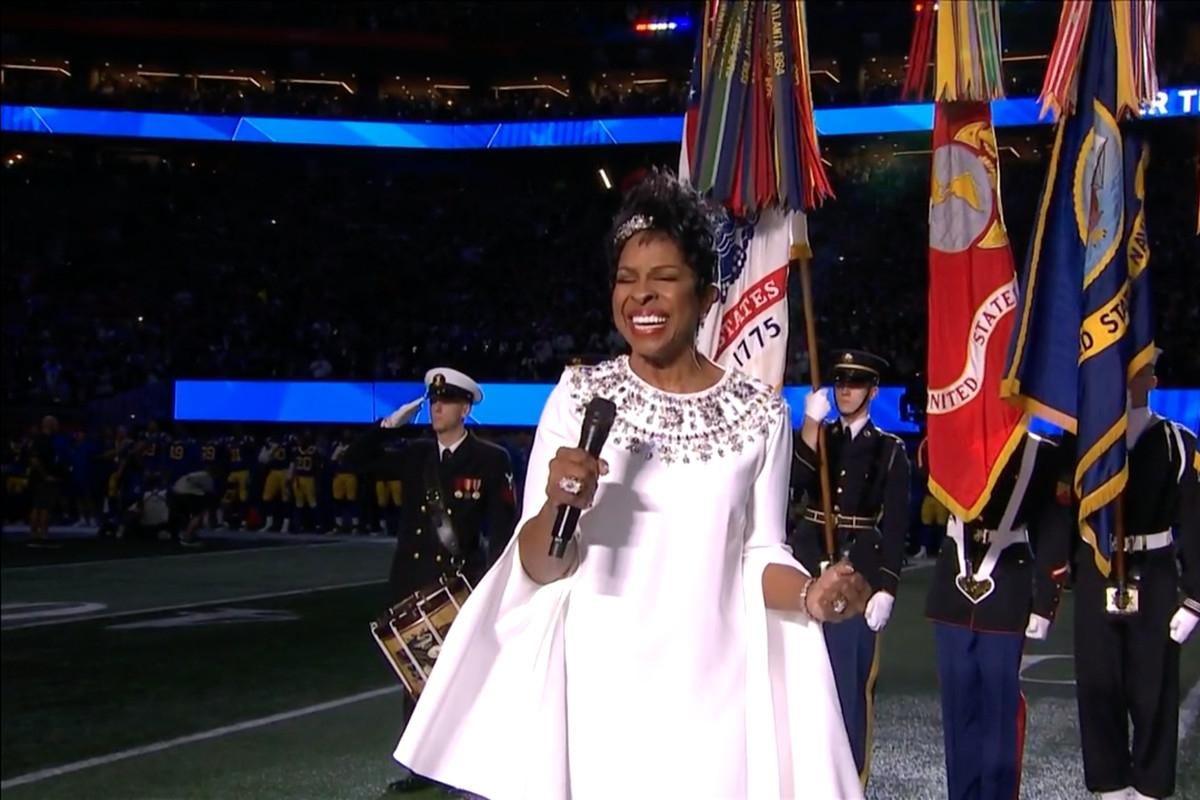 Super Bowl National Anthem 2019: Gladys Knight Impresses intended for Super Bowl Star Spangled Banner 2019