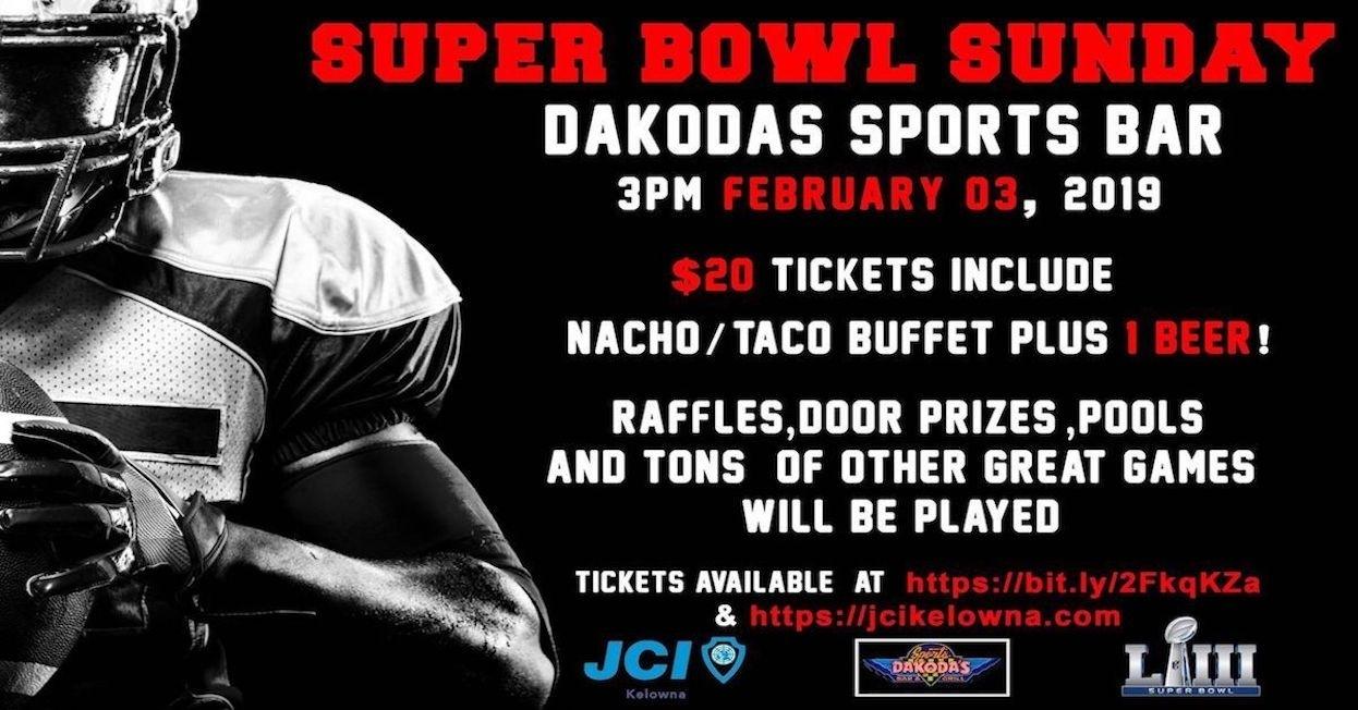Super Bowl Party 2019 - Events - Jci Kelowna with regard to Super Bowl Sunday 2019