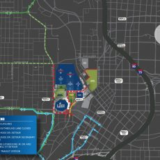 Super Bowl-Related Road Closures Start Monday, Jan. 21 - The with Super Bowl Road Closures Map