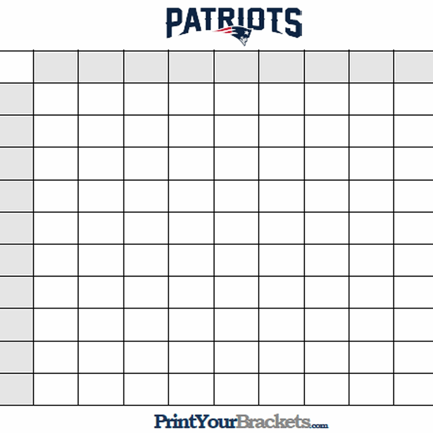 Super Bowl Squares Template, How To Play Online, And More intended for Super Bowl Box Layout