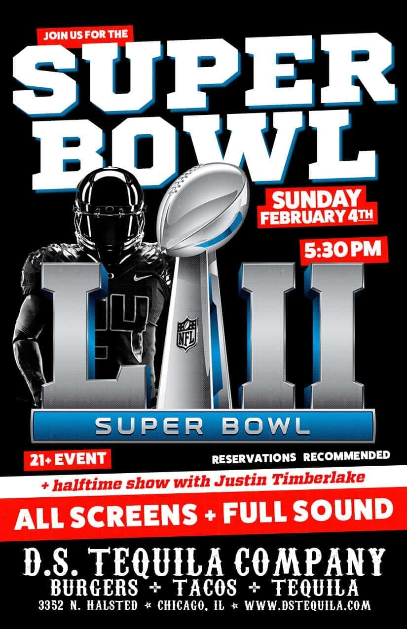 Super Bowl Sunday Funday 2018 ⋆ D.s. Tequila Co. throughout Super Bowl Sunday 2018