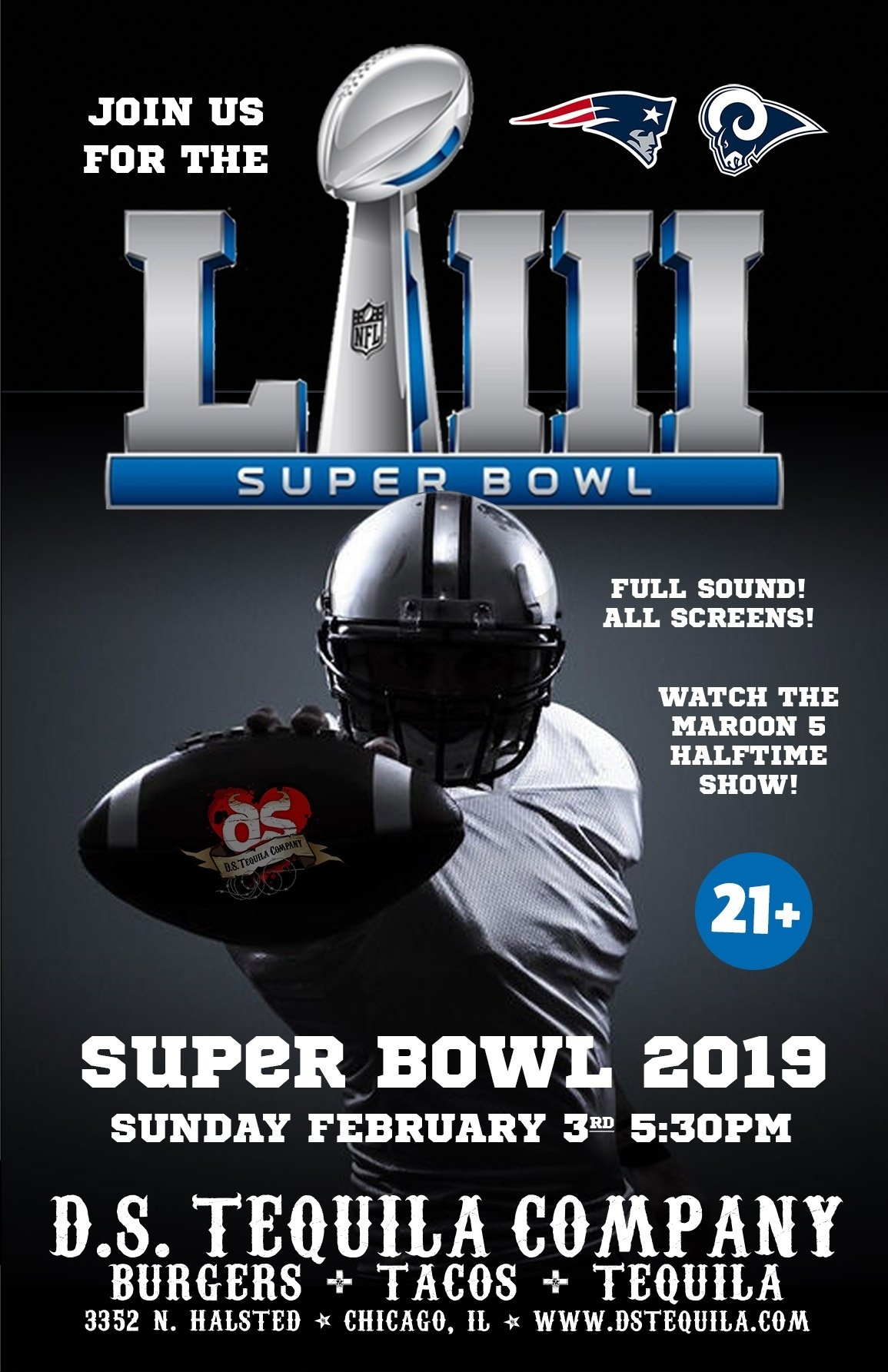Super Bowl Sunday Funday 2019 ⋆ D.s. Tequila Co. for Super Bowl Sunday 2019
