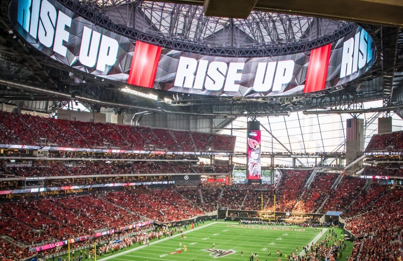 Super Bowl Tech: Daktronics Displays At Atlanta's Mercedes pertaining to Super Bowl Stadium Address