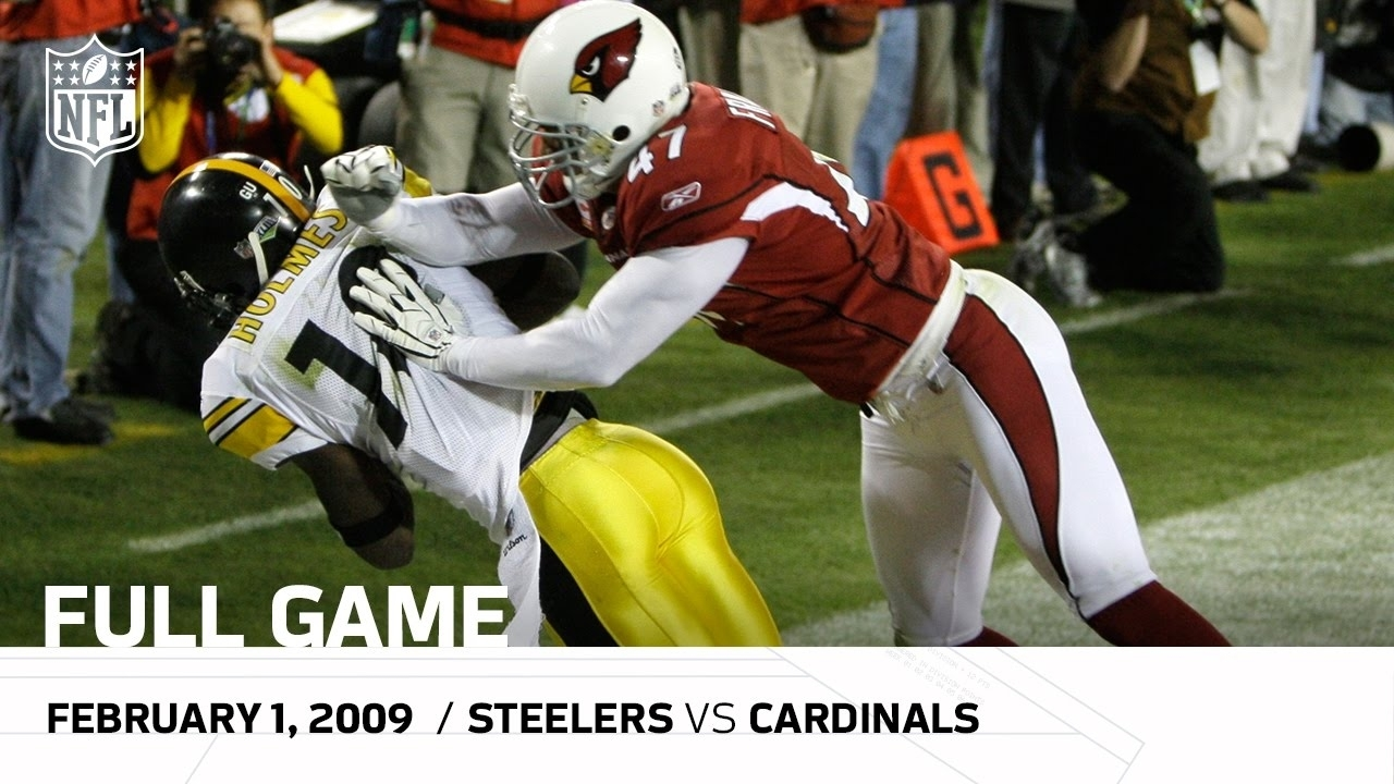 Super Bowl Xliii: Pittsburgh Steelers Vs. Arizona Cardinals | Nfl Full Game pertaining to Steelers Cardinals Super Bowl